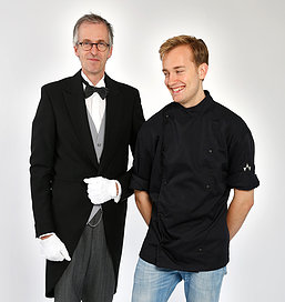 Butler Marcel and Chef Joris from Butlers Table